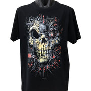 Cyborg Skull T-Shirt (Black, Regular and Big Sizes)