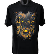 Glow Lion Face T-Shirt (Black, Regular and Big Sizes)