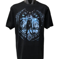 Tribal Wolf T-Shirt (Black, Regular and Big Sizes)