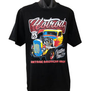 Vintage American Iron Hot Rod T-Shirt (Black, Regular and Big Sizes)