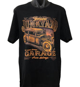 Junkyard Garage Rat Rod T-Shirt (Black, Regular and Big Sizes)