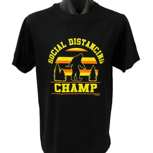 Social Distancing Champ T-Shirt (Black)