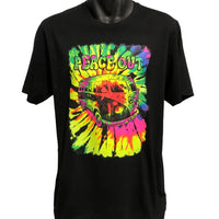 Peace Out Hippie Bus T-Shirt (Black, Regular and Big Sizes)