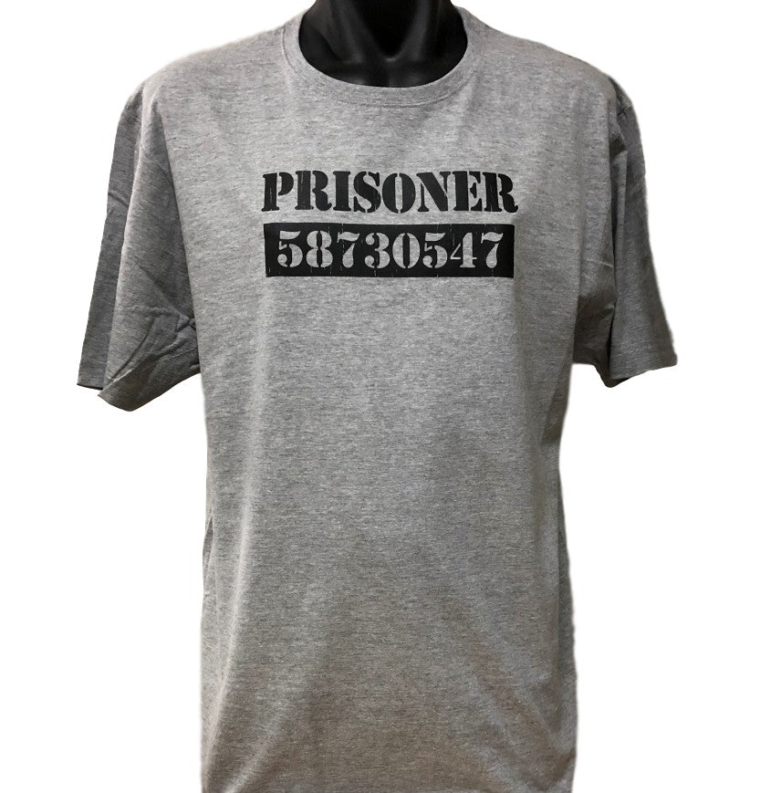 Escaped Prisoner T-Shirt (Marle Grey, Regular and Big Sizes)