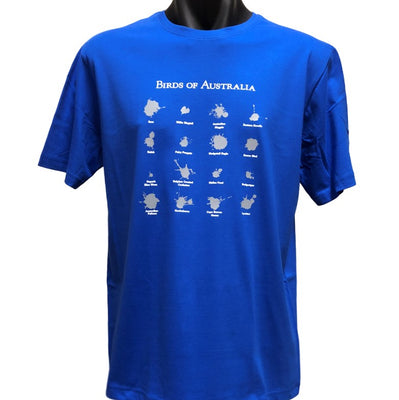 Birds of Australia T-Shirt (Royal Blue, Regular and Big Sizes)