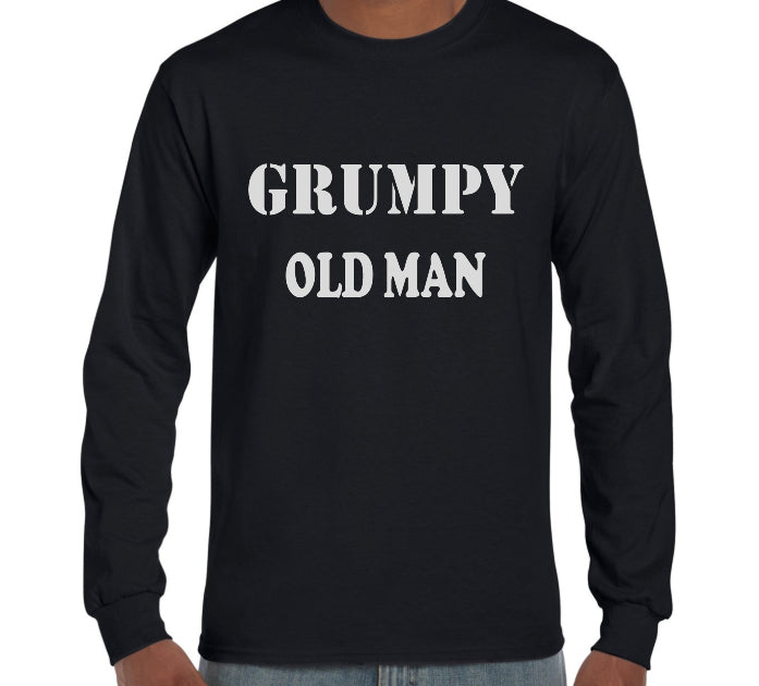 Grumpy Old Man Long Sleeve T-Shirt (Regular and Big Sizes)
