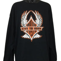 Live To Ride Motorcycles Long Sleeve T-Shirt (Regular and Big Mens Sizes)