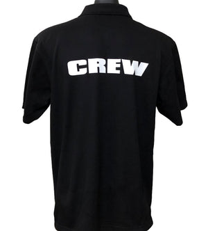 Event Crew Men's Polo Shirt (Black) - Back Print
