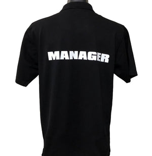 Event Manager Men's Polo Shirt (Black) - Back Print