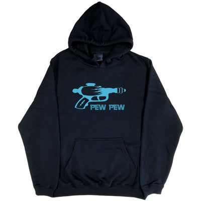 Ray-gun Pew Pew Retro Sci-Fi Hoodie (Black, Regular and Big Sizes)