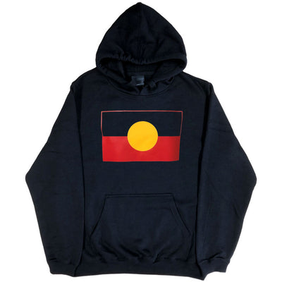 Aboriginal Flag Hoodie (Black, Regular and Big Sizes)