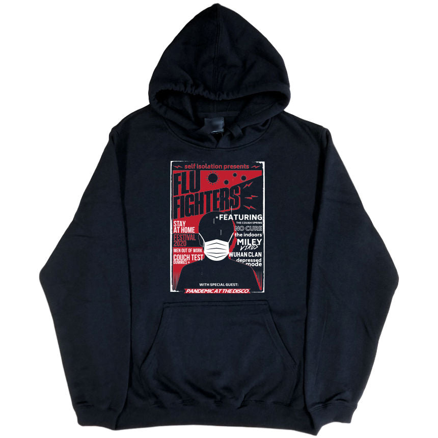 Self Isolation Concert Poster Parody Hoodie (Black, Regular and Big Sizes)