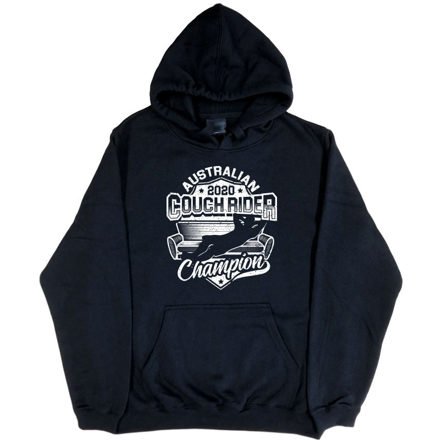 Australian Couch Rider Champion 2020 Hoodie (Black, Regular and Big Sizes)