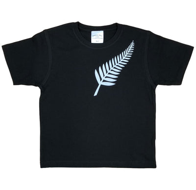 Childrens Silver Fern T-Shirt (Black)