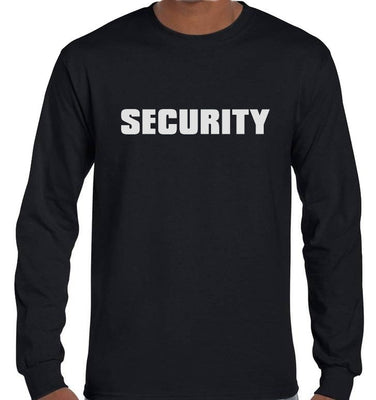 SECURITY Longsleeve T-Shirt (Black, Regular and Big Mens Sizes)