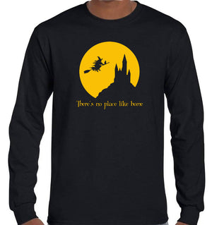 There's No Place Like Home Witch Longsleeve T-Shirt (Black)