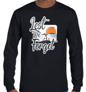 Lest We Forget Logo Longsleeve T-Shirt (Black, Regular and Big Sizes)