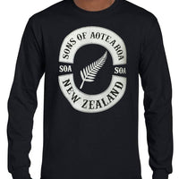 Sons of Aotearoa Silver Fern Longsleeve T-Shirt (Black)