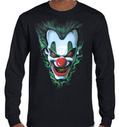 Evil Joker Longsleeve T-Shirt (Black, Regular and Big Sizes)