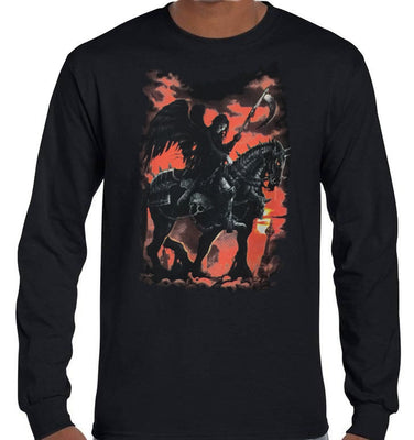 Death Rider Longsleeve T-Shirt (Black, Regular and Big Sizes)