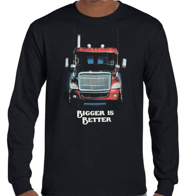 Bigger is Better Longsleeve T-Shirt (Black)