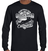 Australian Couch Rider Champion 2020 Longsleeve T-Shirt (Black)