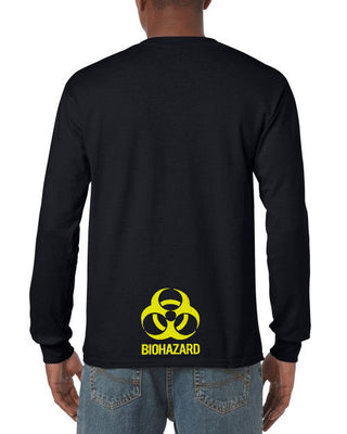 Biohazard Butt Longsleeve T-Shirt (Black, Regular and Big Sizes)