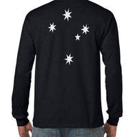 Southern Cross Longsleeve T-Shirt (Double-Sided, Regular and Big Sizes)