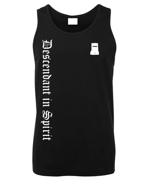 Ned Kelly Descendant in Spirit Mens Singlet (Black)