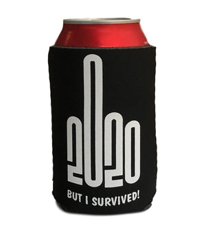 Give 2020 The Finger (But I Survived) Stubby Holder (Black)