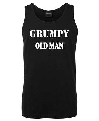 Grumpy Old Man Mens Singlet (Black - Regular & Big Mens Sizes up to 6XL)