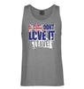 Love it or Leave Australian Flag Mens Singlet (Grey)