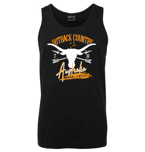 Outback Country Australia Mens Singlet (Black)