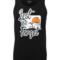 Lest We Forget Logo Mens Singlet (Black)
