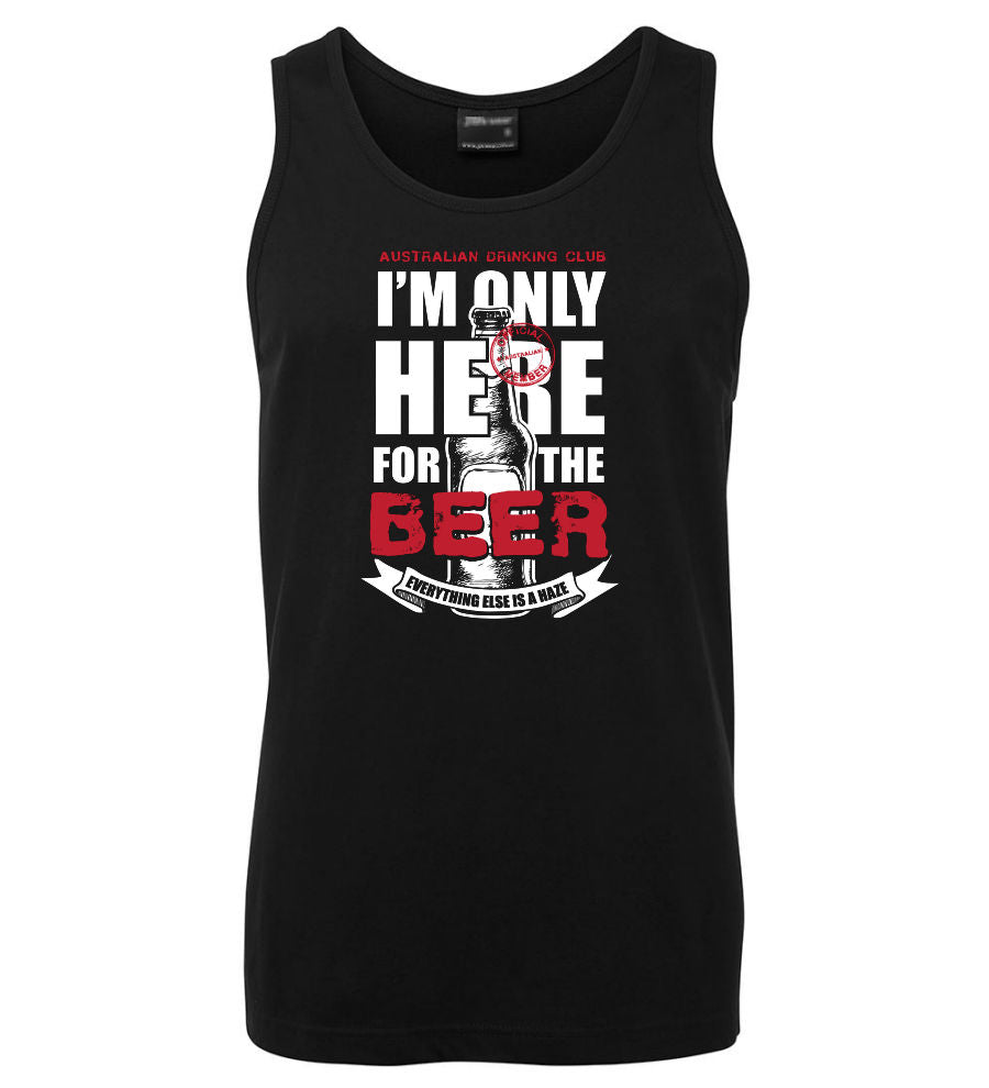 Only Here for the Beer Mens Singlet (Black)