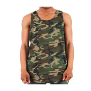 Army Camo Colour Big Mens Singlet - Size 7XL