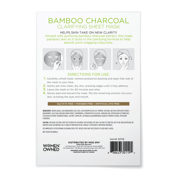 Bamboo Charcoal Clarifying Sheet Mask