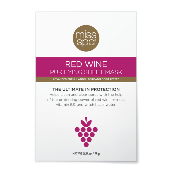 Miss Spa Red Wine Purifying Sheet Mask