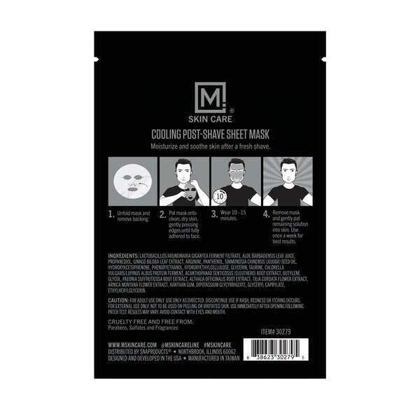 M. Skin Care Post-Shave Cooling Mask for Men