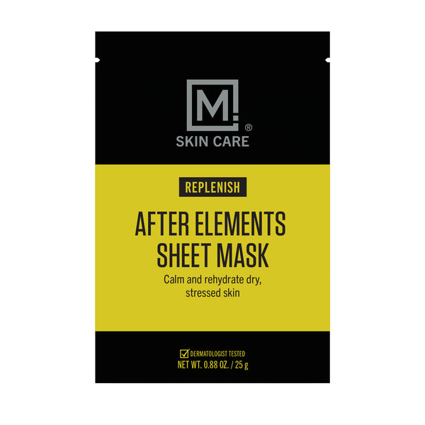 M. Skin Care Replenish After Elements Sheet Mask for Men