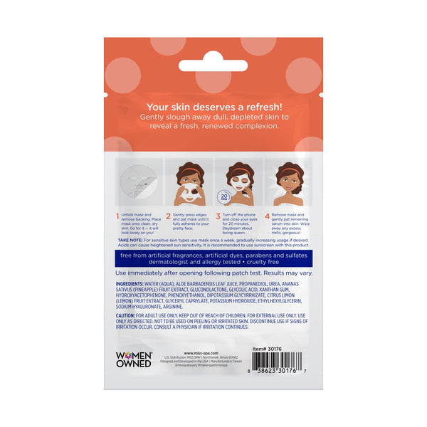 miss spa renew facial sheet mask directions
