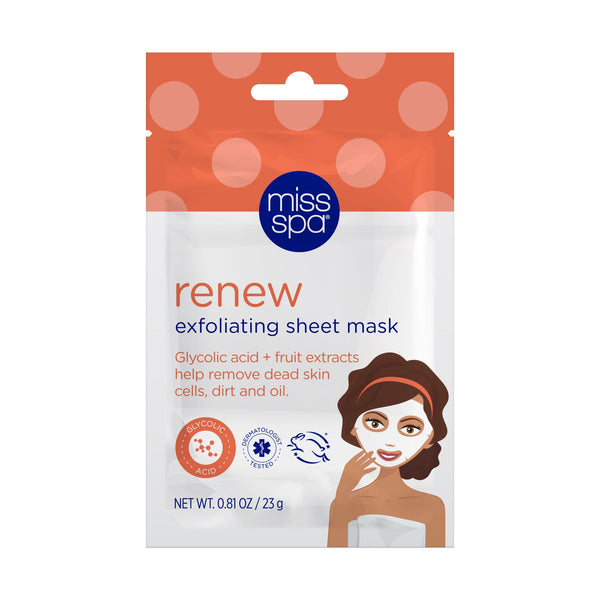 miss spa renew facial sheet mask