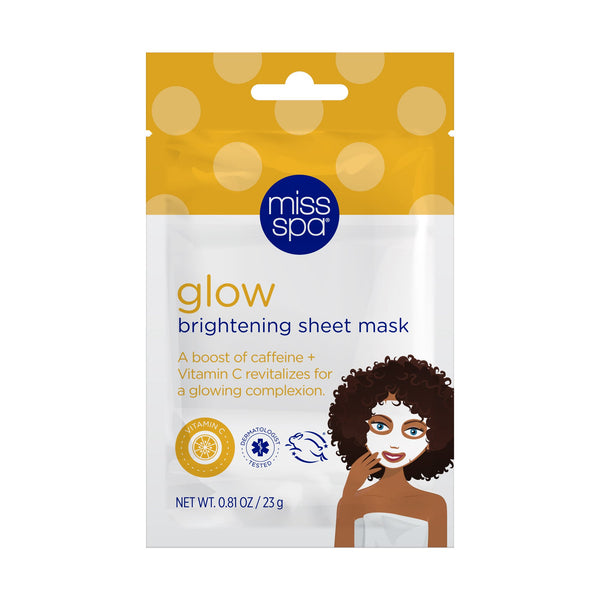 miss spa glow facial sheet mask