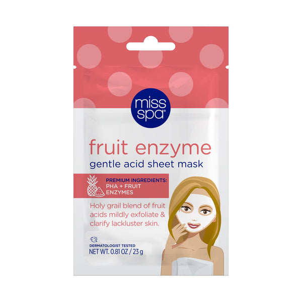 miss spa fruit enzyme sheet mask