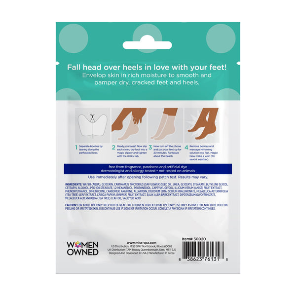 miss spa soften pre-treated foot bootie back image