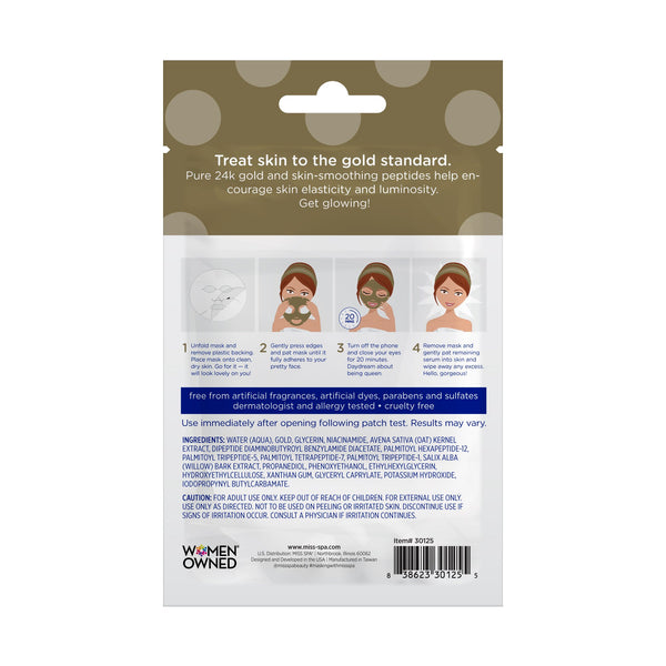 Miss Spa 24k Gold Facial Sheet Mask back image