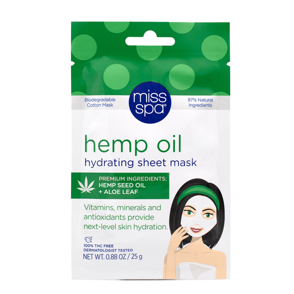 Miss Spa Hemp oil Sheet Mask