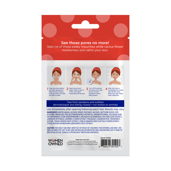 Miss Spa Minimize Facial Peel-Off Mask back image