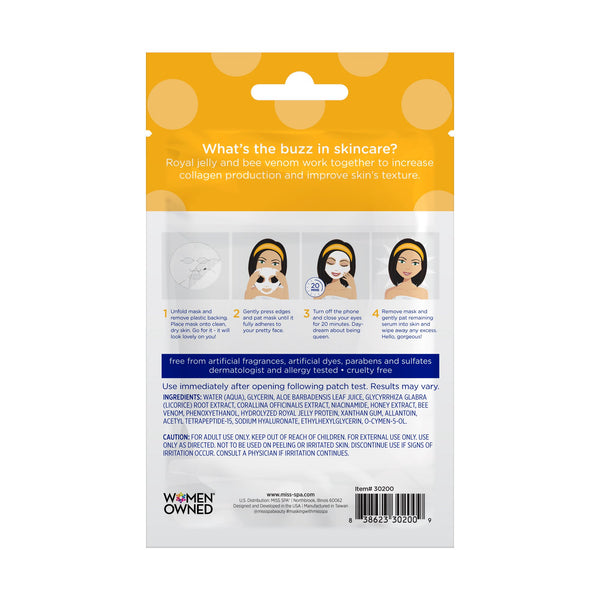 Miss Spa Bee Venom Facial Sheet Mask back image