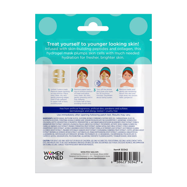 Miss Spa Boost and Glow Hydrogel Facial Mask back image